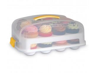 Cake Design Snips Contenitore Trasportino Porta CupCake Muffin con Vassoio