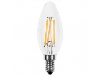 Lampada Led Lampadina Filamento Attacco E14 LIGHT a Candela 4W Luce Calda 400 Lm
