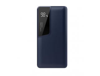 10000MAH POWER BANK PORTATILE WITH DIGITAL DISPLAY & USB TYPE C NAVY