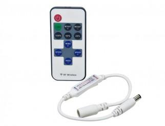 LIFE Mini Controller LED Dimmer con Radiocomando 433,92Mhz 12-24V 6A Connettore