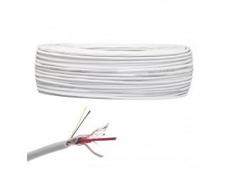 Matassa Cavo 100 Metri Bobina per Allarme Antifurto Schermato 2x0,22 in Rame PVC