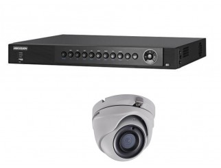 Kit HIKVISION telecamere mini dome turbo hd 2.8mm + Dvr 4 canali 4mpxl