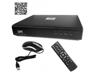 Dvr 4 Canali LIFE Videosorveglianza H264 Lan Hdmi Hd Video Vga USB QRCODE Iphone