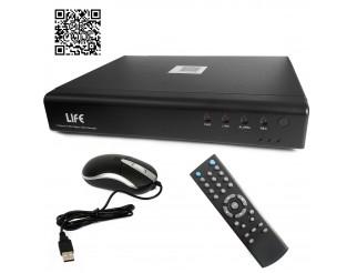 Dvr Videosorveglianza 4 Canali AHD HD H264 720p HDMI VGA USB LAN LIFE Telecamera