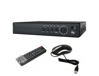 Dvr 4 Canali Videosorveglianza H264 Hdmi VGA per Telecamere HD Cctv Lan Cloud