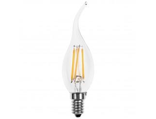 Lampada Led Lampadina Filamento Attacco E14 LIGHT a Candela 4 Watt Luce Calda