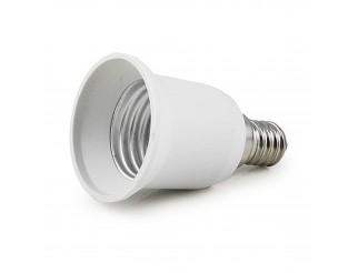 Adattatore Lampada Lampadina Lampadine Convertitore LIFE LED Attacco E14 a E27