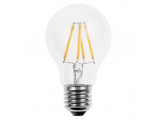 Lampada Led Lampadina Filamento Attacco E27 LIGHT a Globo 6W Luce Calda 600 Lm