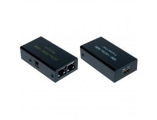Extender HDMI 1080P Trasmettitore Ricevitore LAN Rete CAT6 CAT5E Ethernet 30M