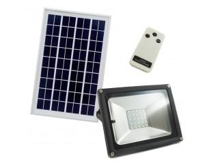 Faretto a Led 10W con pannello solare