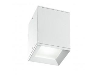 Porta Faretto Gu10 Spot Cubico in Alluminio Bianco da Soffitto IP54 ESTERNO