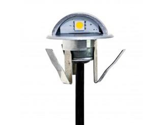 Faretto ad Incasso Segnapasso a LED 0,4W 12V Luce Calda IP65 90 Gradi Punto Luce