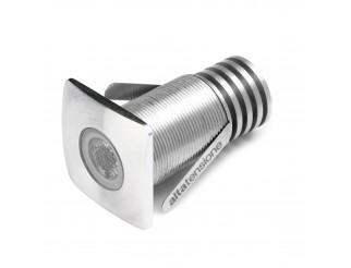 Faretto Luce Led Mono Mini 3W Spot Miniled Segnapasso Faro Incasso PAN Quadrato