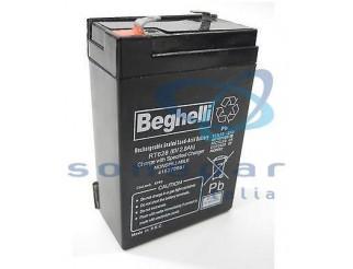 Batteria ricaricabile Beghelli Pb 6V 2.8Ah