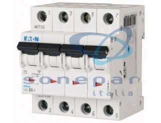 Interruttore automatico modulare FAZ6-C16/4 6KA 4P C 16A EATON