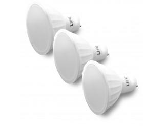 3 PZ LAMPADE LAMPADA LAMPADINA A LED LUCE CALDA ATTACCO GU10 5 WATT LIFE 380 LM