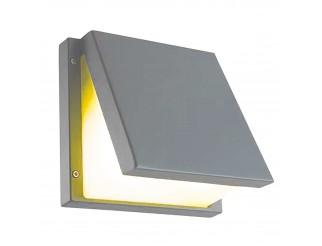 Lampada Esterno Plafoniera Applique Led E27 Parete Giardino Grigio LIGHT Design