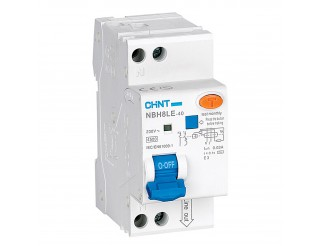 Interruttore Magnetotermico Differenziale 10A CHINT Tipo A 1P+N 6kA NBH8LE