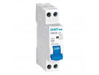 Interruttore Magnetotermico 6A CHINT Tipo A 1P+N 6 kA NBH8-40H