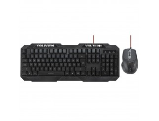 Kit Tastiera Mouse Ottico Gaming Multimediale USB PC Keyboard VULTECH KM-960C