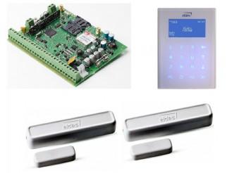 Kit ELDES Centrale con GSM ibrida pulsar+Tastiera Lcd bianca+2 CONTATTO VIA RADIO BIDIREZ.868MHZ BIANCO