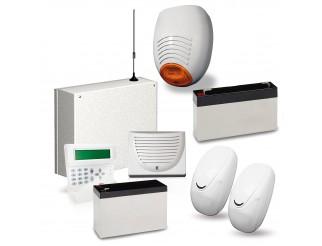 Kit Antifurto Allarme Casa Combinatore GSM Cellulare con Batterie AMC C24 GSM