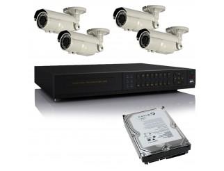 Kit dvr Videosorveglianza H264 4 Canali + Telecamere HD 1080P + HARD DISK LIFE