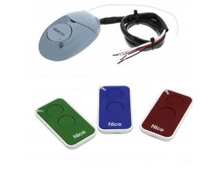 Kit Radiocomandi Telecomando Cancello Automatico Universale 433 Mhz NICE INTI
