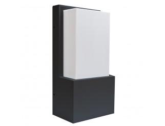 Applique Lampada led ISYLUCE in alluminio da parete da esterno grigio E27