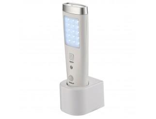 Lampada a led torcia ricaricabile portatile luce d'emergenza sos bianco