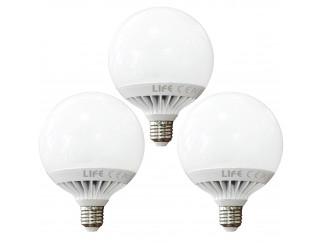 3 PZ LAMPADE LAMPADA LAMPADINA A LED LUCE NATURALE NATURA A GLOBO E27 15 W LIFE
