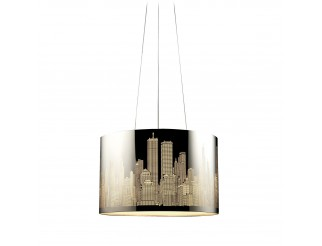 Lampadario Lampada da Soffitto Led Plafoniera a Sospensione Acciaio Columbus PAN