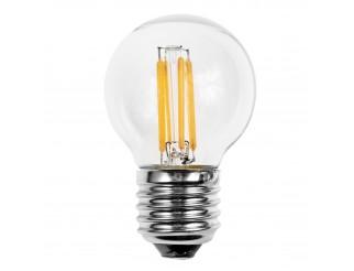 Lampada Led Lampadina Filamento Attacco E27 LIGHT 4 Watt Luce Bianca Calda G45