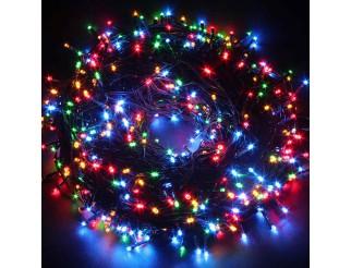 Luci di Natale 600 Led 54 Metri Albero Illuminazione Multicolore Rgb 220V Festa
