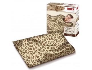 Coperta con maniche Pile Plaid Pled per Donna Uomo Inverno Morbida Leopardata