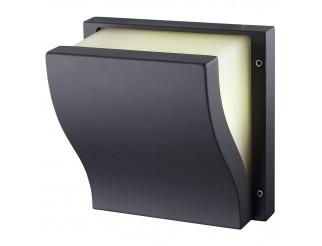 Lampada Esterno Plafoniera Applique E27 da Parete Giardino Nero LIGHT Moderno