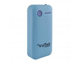 BATTERIA ESTERNA POWER BANK 5200 MAH CARICABATTERIA USB X SMARTPHONE VULTECH BLU