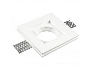 Faretto GU10 Corpo Quadrato Gesso Bianco 10 x 10 cm V-tac