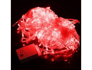 Luci di Natale 100 Led Albero Illuminazione Luce Rossa 220V Festa Trasparente