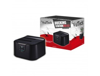 HDD DOCKING STATION PER HARD DISK 2.5'' 3.5'' SATA USB 3 LETTORE ESTERNO VULTECH