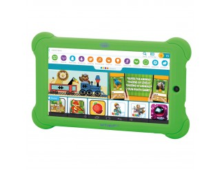 Tablet Android WIFI Pc 7 Pollici Quad Core per Bambini Camera KIDTAB TREVI Verde