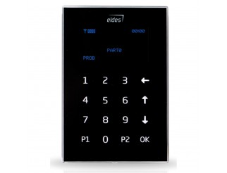 Tastiera cablata LCD a sfioramento nero Eldes