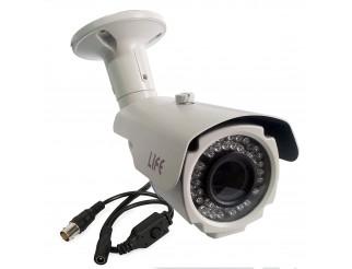 Telecamera Bullet CCD Sony 700 TVL Varifocale 2,8 - 12 mm 42 LED Infrarossi LIFE