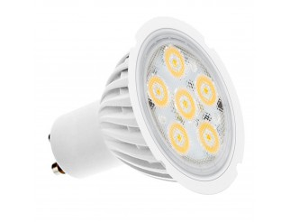 LAMPADINA LAMPADA FARO FARETTO A 6 LED SPOT GU10 4W LUCE FREDDA SMD 220 LUMEN
