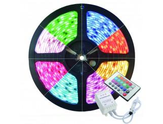 STRISCIA A LED 5050 RGB 5METRI SMD LED 5 METRI BOBINA LUCE MULTICOLOR COLORI 12V