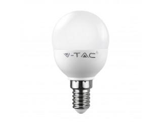 Lampada Lampadina E14 LED SMD V-TAC VT-1880 Miniglobo P45 Luce Naturale 6 Watt
