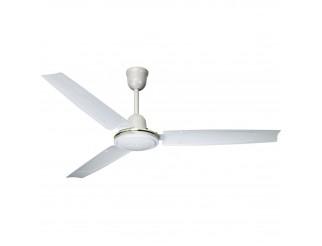 Ventilatore da Parete Soffitto Diametro 140cm 3 Pale Bianco Predisposizione Luce