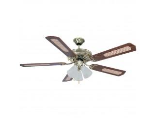 Ventilatore Da Soffitto con 5 Pale Diametro 130 Cm Luce Lampada 65W