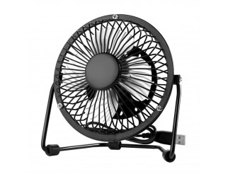 Ventilatore Mini Fan USB in Metallo per Notebook PC Casa Ufficio Ruotabile