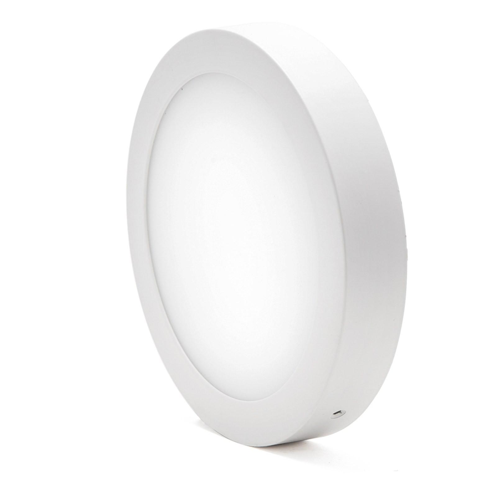 Plafoniera faretto pannello led luce bianca calda 25 watt for Led luce calda